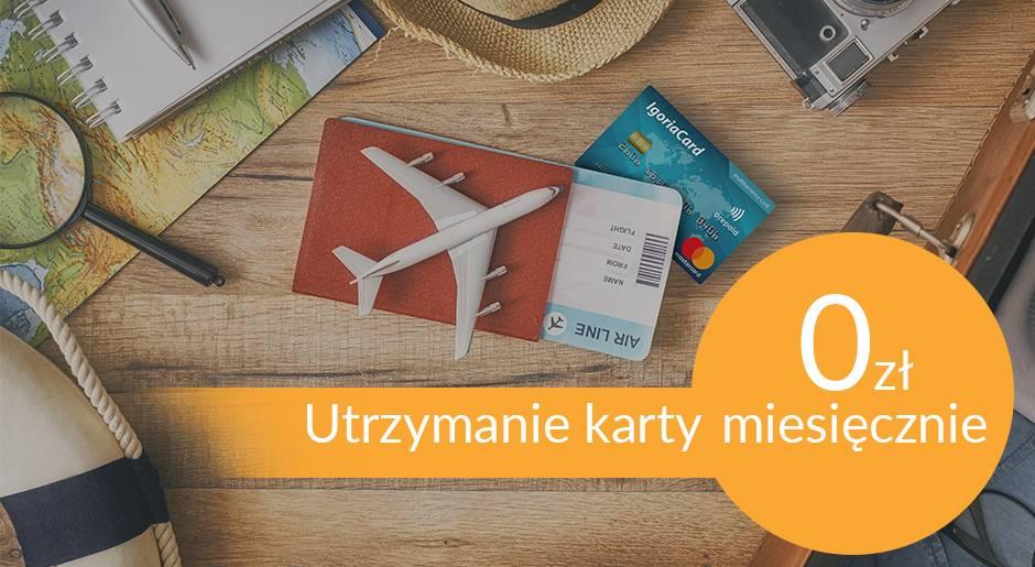 Wielowalutowa karta IgoriaCard bez kosztów miesiecznych utrzymania karty
